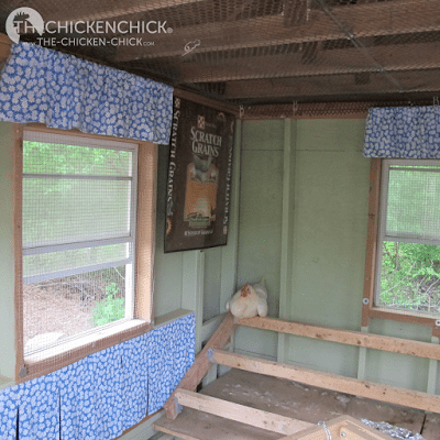 Nest box curtains in the 'Little Deuce Coop,' more than just pretty, functional too!