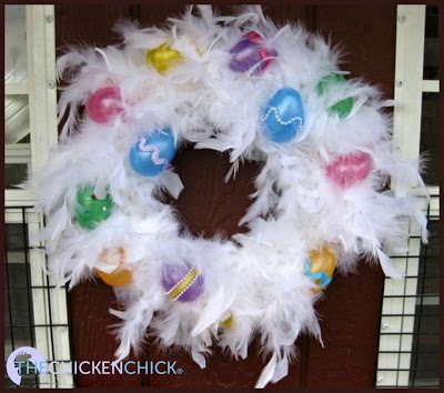 Easter Wreath for chicken coop via The Chicken Chick®