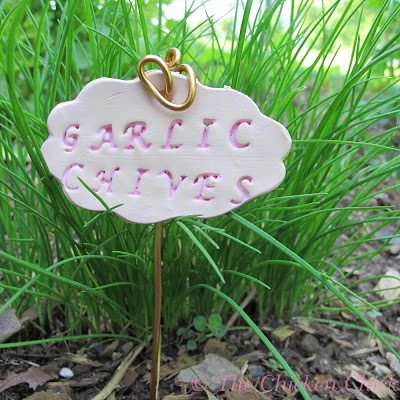Polymer clay garden markers.