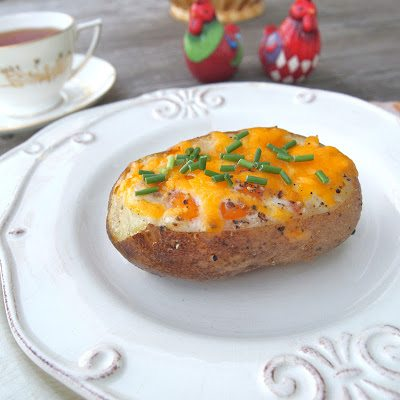 And, Melissa author of The Alchemist shares her Breakfast Baked Potato recipe. I'm not sure why baked potatoes never occured to me as breakfast food because they make perfect sense and look absolutely fantastic.And, Melissa author of The Alchemist shares her Breakfast Baked Potato recipe. I'm not sure why baked potatoes never occured to me as breakfast food because they make perfect sense and look absolutely fantastic.