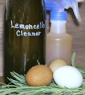 Lemoncello cleaner made from spent lemon rinds