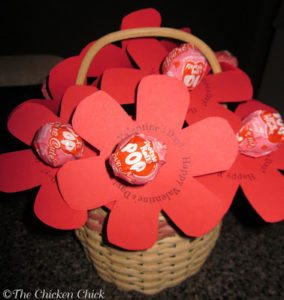 Valentine's Day Tootsie Pops Flower Bouquet | The Chicken Chick®