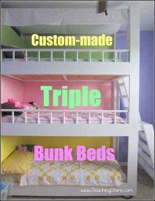 Teaching Stars Custom Triple Bunk Beds 8 25 13 The Chicken Chick