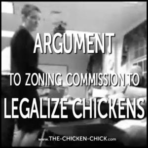 Argument to zoning commission to legalize chickens