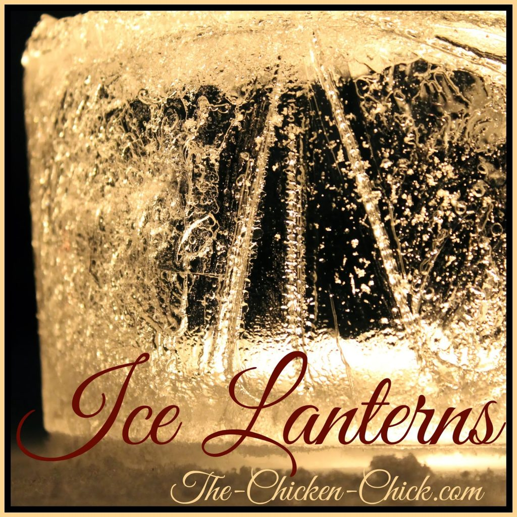 Winter Ice Lantern tutorial
