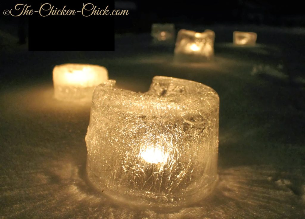 DIY Winter Ice Lanterns