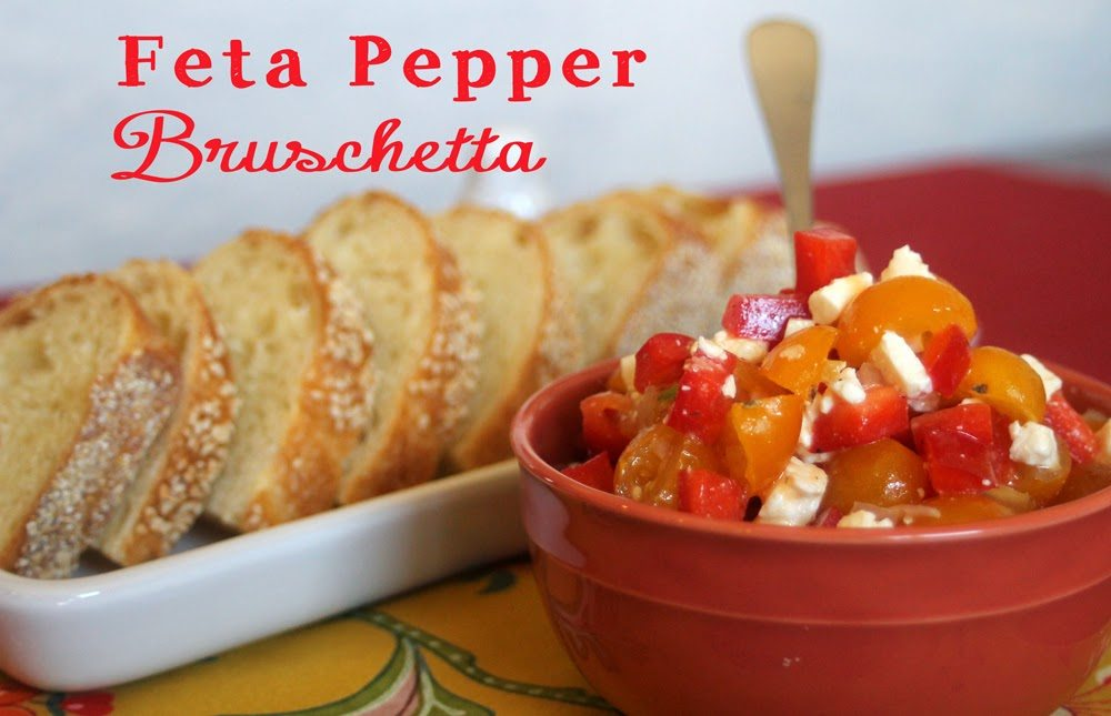 Feta Pepper Bruschetta shared by Love Food Will Share