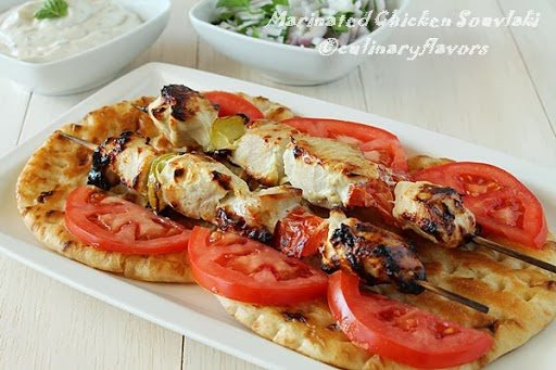 Yogurt Marinated Chicken Souvlaki recipe shared by Culinary Creations