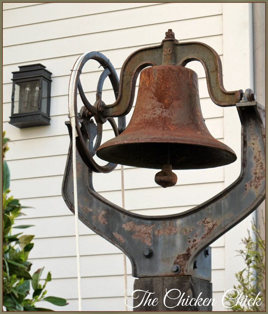 Dinner bell at the Garden Home.