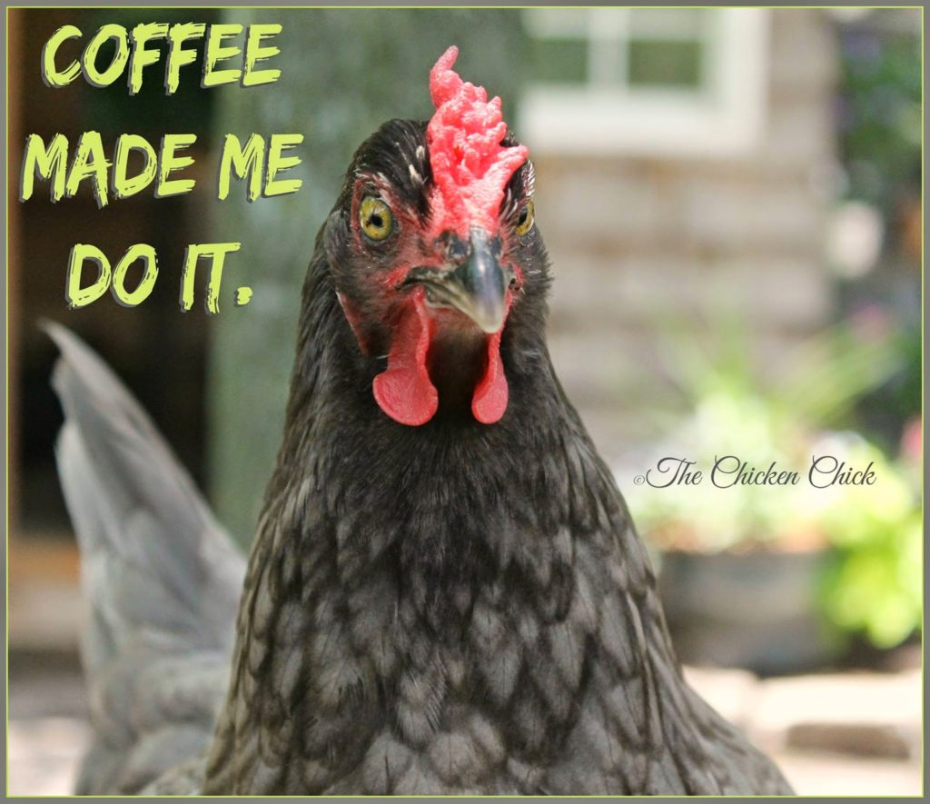 Coffee made me do it.