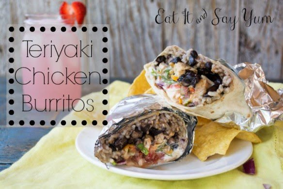 Chicken Teriyaki Burritos, shared by Life with the Crust Cut Off
