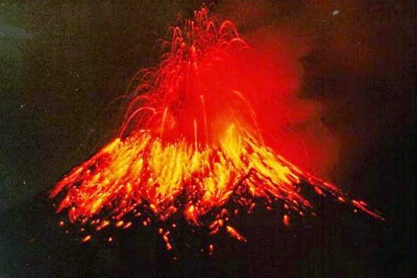 Erupting volcano Photo courtesy of the U.S. Geological Survey