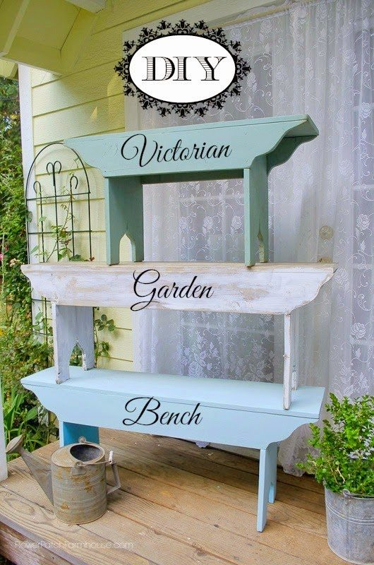 How to Build a Victorian Garden Bench, shared by Flower Patch Farmhouse