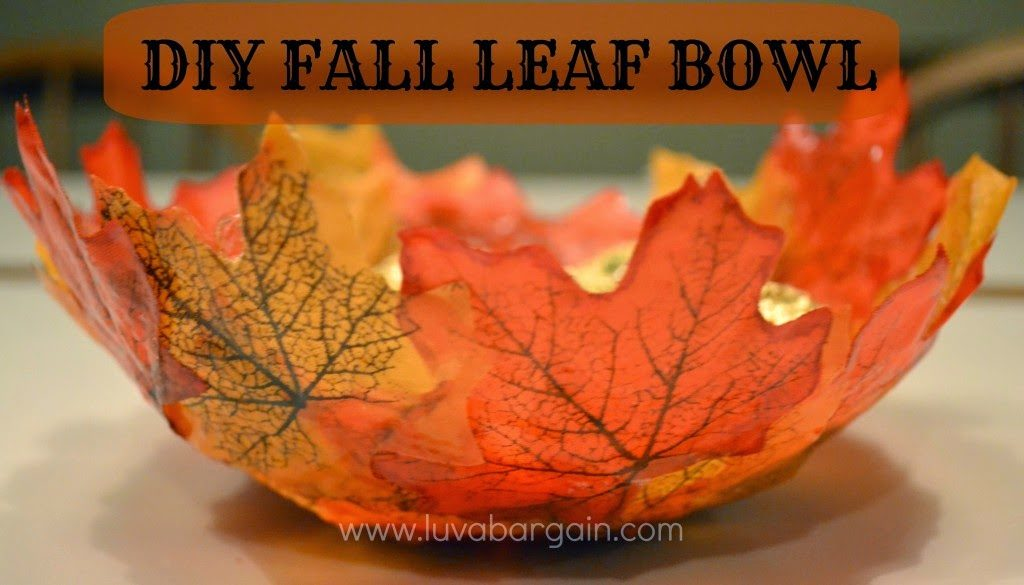 Fall Leaf Bowl, shared by Luv a Bargain