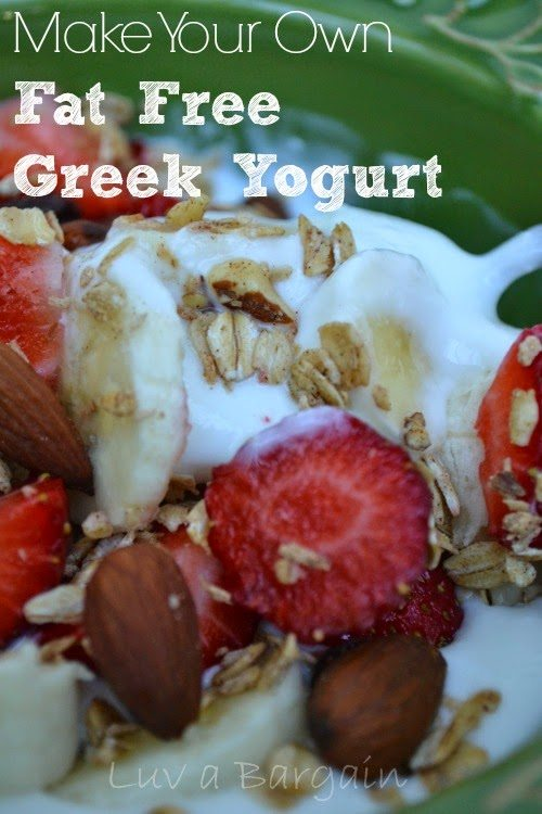 DIY Greek Yogurt, shared by Luv a Bargain