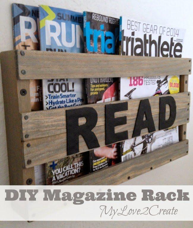 DIY Magazine Rack, shared by My Love 2 Create