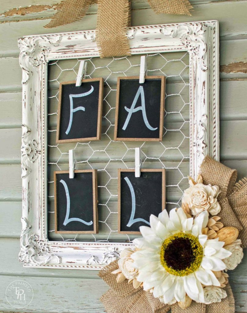 Shabby Chic Fall Frame, shared by the Painted Hinge