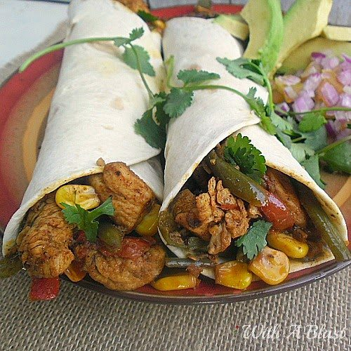 Spicy Mexican Chicken Wraps, shared by With a Blast