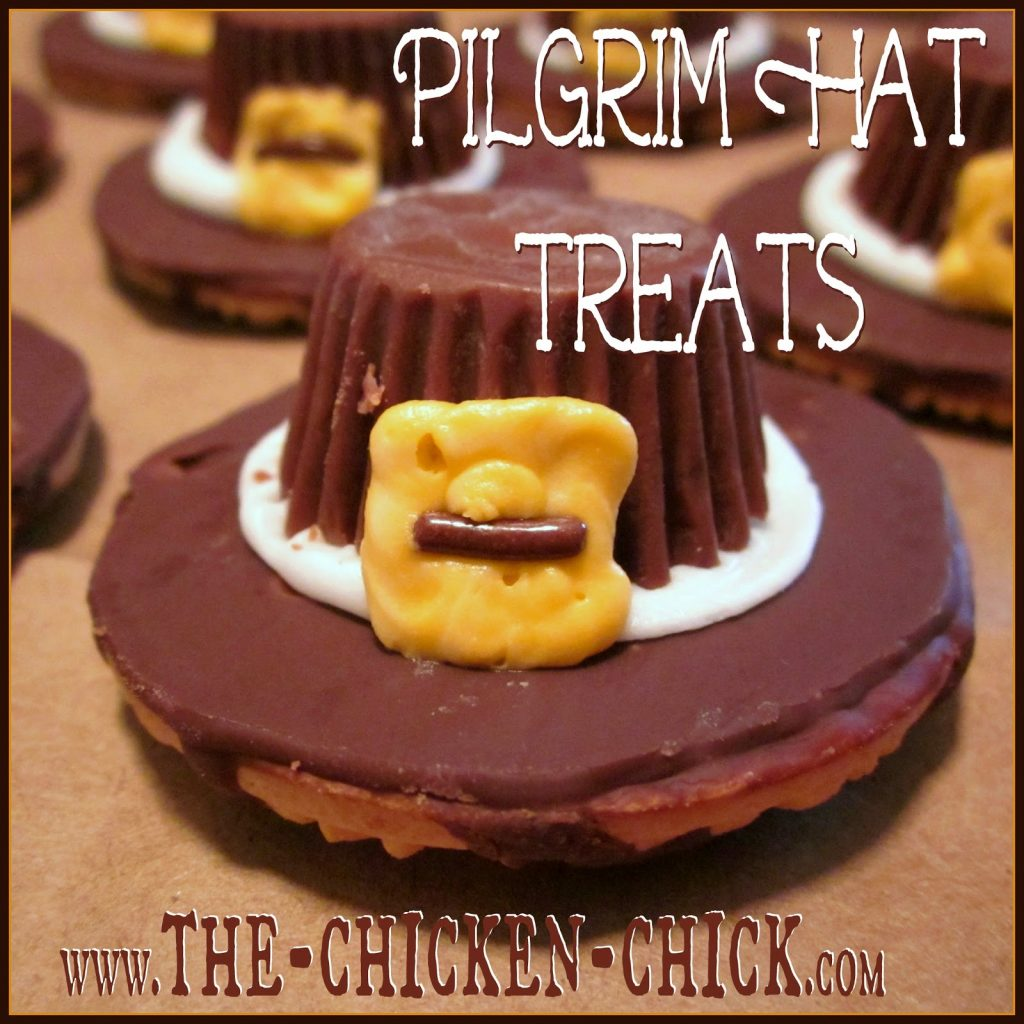 Pilgrim Hats are quick and easy Thanksgiving treats that my kids and their classmates get a kick out of and so do I!