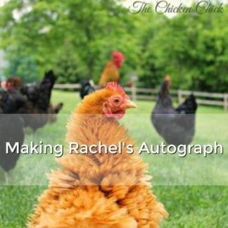 Making Rachel's Autograph