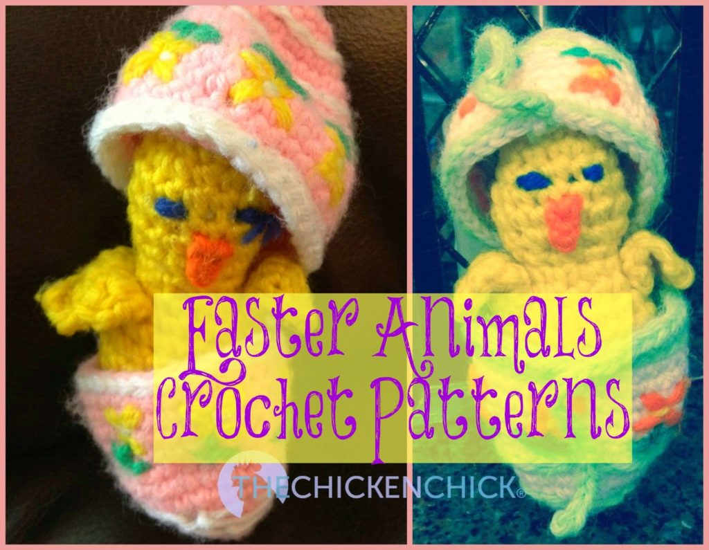 Crochet pattern for Happy Easter Animals chicks in eggs and ducks from Woman's Day Magazine March 27, 1978 via The Chicken Chick 0174.