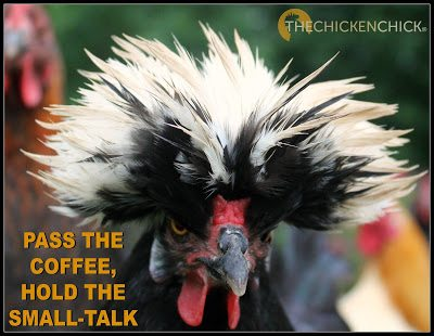 Pass the coffee, hold the small-talk.