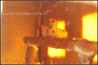 Gingerbread Chicken Coop roosts