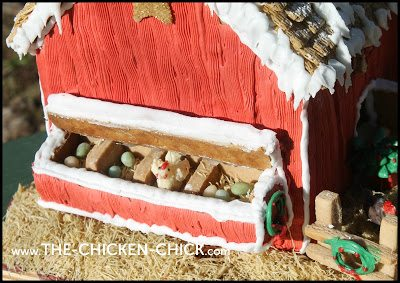 Gingerbread Chicken Coop nest boxes