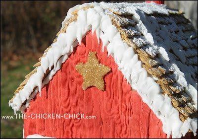 Barn star on gingerbread chicken coop