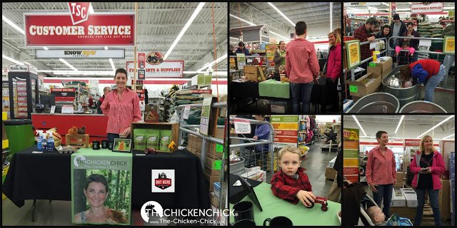 The Chicken Chick, Kathy Mormino, speaking to chickeneers during Chick Days at a Tractor Supply Company store.