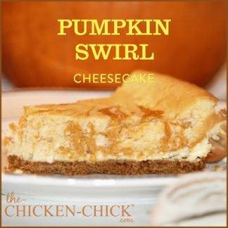 Pumpkin Swirl Cheesecake