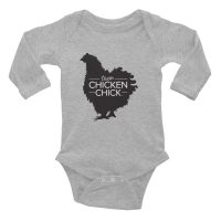 Team Chicken Chick Infant Long Sleeve Budysuit
