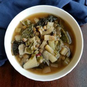 Lentil and Fresh Vegetable Soup