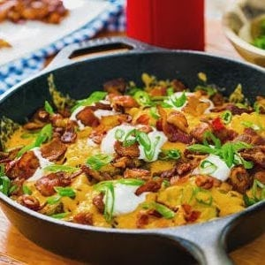 Grilled Cheesy Loaded Potatoes