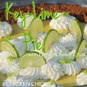 Key Lime Pie With Lemon Cookie Crust