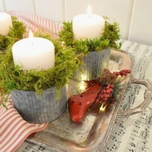 DIY Easy Christmas Candle
