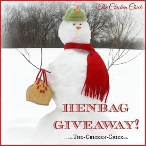 Henbag Giveaway at The Chicken Chick