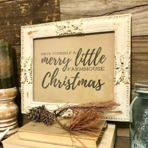 Farmhouse Inspired Frame with Free Print