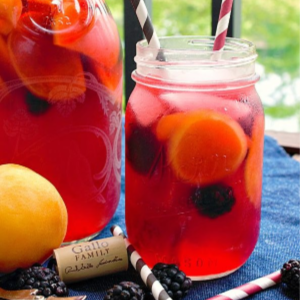 Blackberry Apricot Sangria, shared by This Silly Girl's Life