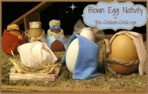 Blown Egg Nativity