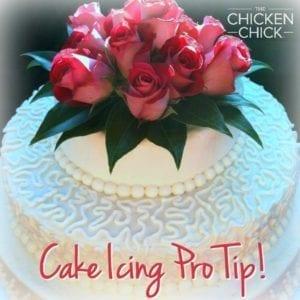 cake icing pro tip