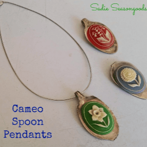 Cameo Spoon Pendants, shared by Sadie Seasongoods