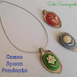 Cameo Spoon Pendants, shared by Sadie Seasongoods