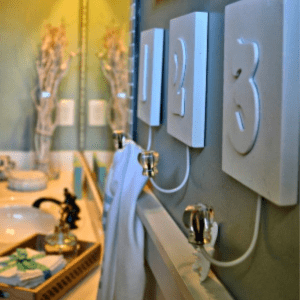 Coastal Bathroom Makeover, shared by Beachwood Place