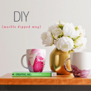 DIY Marble Dipped Mugs, shared by House of Hipsters