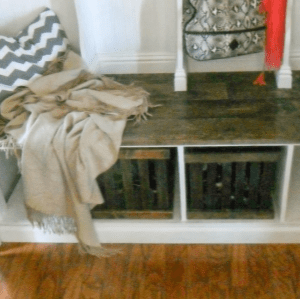 DIY Rustic Crates under $5, shared by Home, Heart & Hands