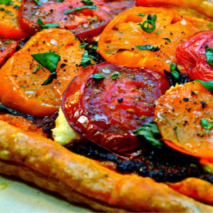 Double Tomato Tart with Ricotta & Basil, shared by From Everyday to Gourmet