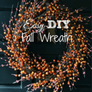 Easy DIY Fall Wreath, shared by Luv a Bargain