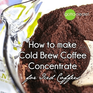 Make Cold Brew Concentrate for Iced Coffee, shared by I Gotta Create