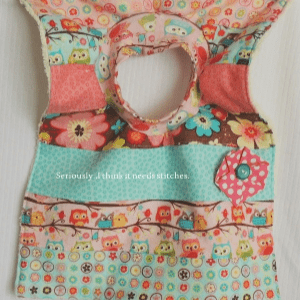 Pullover Bib, shared by Seriously, I Think it Needs Stitches